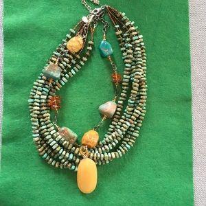 Silpada Amber Turquoise Jasper Howlite Necklace